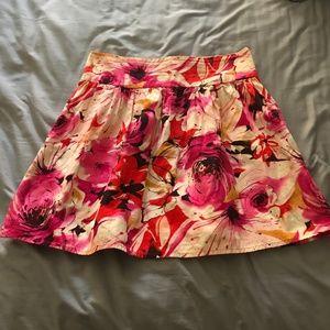 Forever 21 Floral High Waisted MIni Skirt
